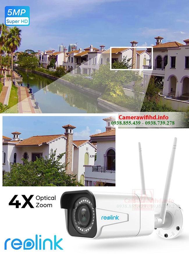Camera Ngoài trời Reolink RLC-511W 5MP - 2K [2560x1920]p, Zoom quang 4X, Hồng ngoại 30m, Starlight